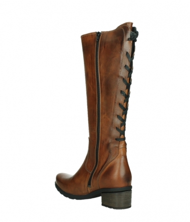 wolky long boots 07505 seoul 30430 cognac leather_16