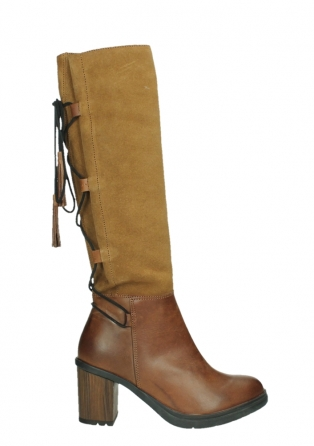 wolky long boots 08062 atasu 34430 cognac leather with suede_1