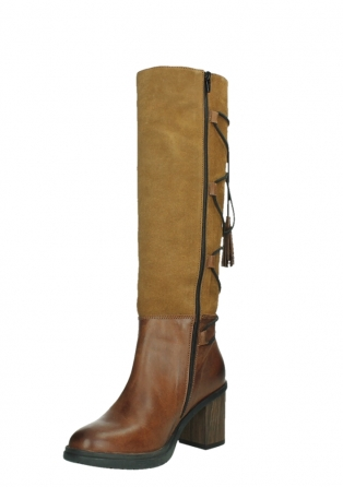 wolky long boots 08062 atasu 34430 cognac leather with suede_10