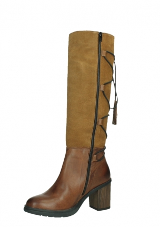 wolky long boots 08062 atasu 34430 cognac leather with suede_11