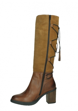 wolky long boots 08062 atasu 34430 cognac leather with suede_12