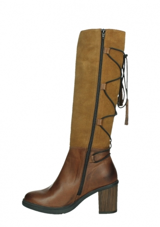 wolky long boots 08062 atasu 34430 cognac leather with suede_13
