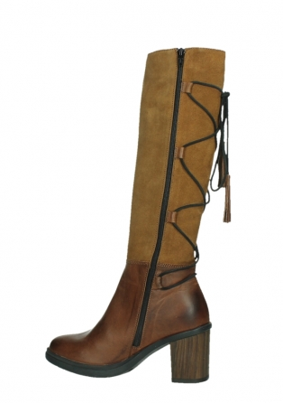 wolky long boots 08062 atasu 34430 cognac leather with suede_14