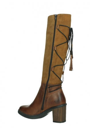 wolky long boots 08062 atasu 34430 cognac leather with suede_15