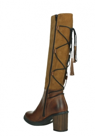 wolky long boots 08062 atasu 34430 cognac leather with suede_16