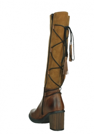 wolky long boots 08062 atasu 34430 cognac leather with suede_17