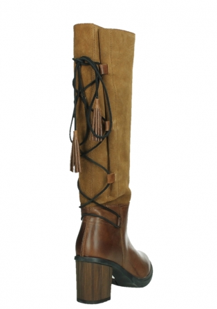 wolky long boots 08062 atasu 34430 cognac leather with suede_21