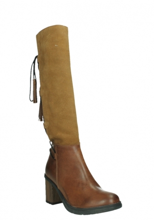 wolky long boots 08062 atasu 34430 cognac leather with suede_4
