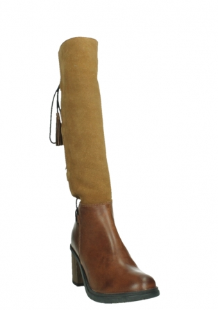 wolky long boots 08062 atasu 34430 cognac leather with suede_5