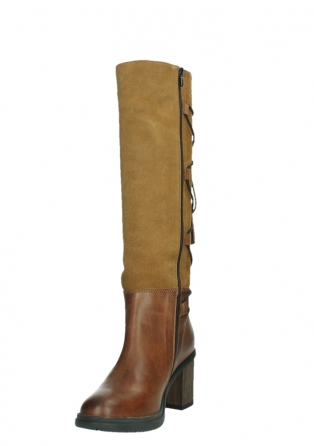 wolky long boots 08062 atasu 34430 cognac leather with suede_9