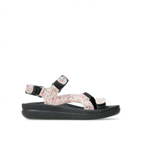 wolky sandalen 00710 energy lady 40912 offwhite multi suede