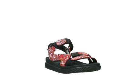 wolky sandalen 00710 energy lady 42500 red mosaic suede_5