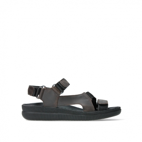 wolky heren sandalen 00711 energy men 50300 brown greased leather