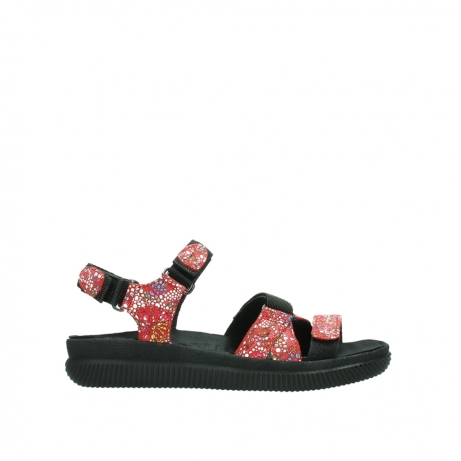 wolky sandalen 00720 action lady 42500 red mosaic suede