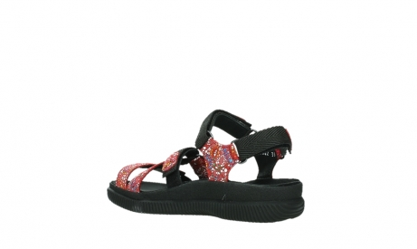 wolky sandalen 00720 action lady 42500 red mosaic suede_16