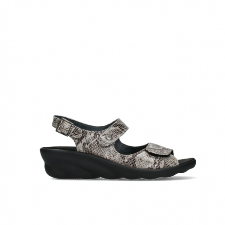 wolky sandalen 03125 scala 98150 taupe snake print leather