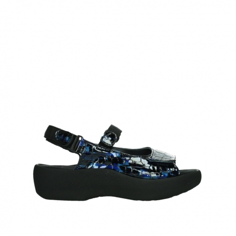 wolky sandalen 03204 jewel 69800 blue croco patent leather