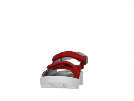 wolky sandalen 05350 globe 13500 red lightly greased nubuck_8