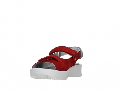 wolky sandalen 05350 globe 13500 red lightly greased nubuck_9