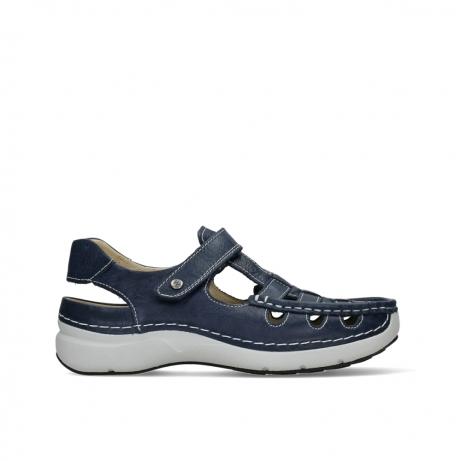 wolky sandalen 07204 rolling sun 35800 blue leather