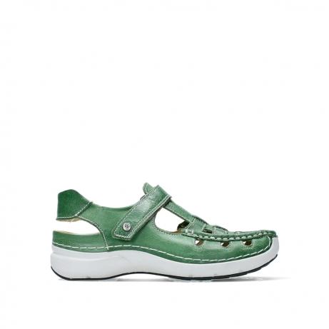 wolky sandalen 07204 rolling sun 35735 velvet green leather