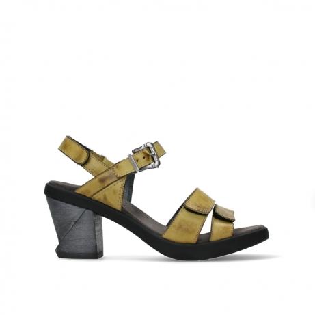 wolky sandalen 07428 cross 20792 kiwi yellow leather