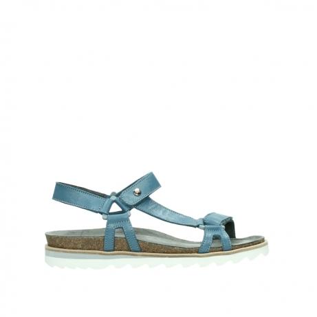 wolky sandalen 08226 limoni 87860 steel blue pearl leather