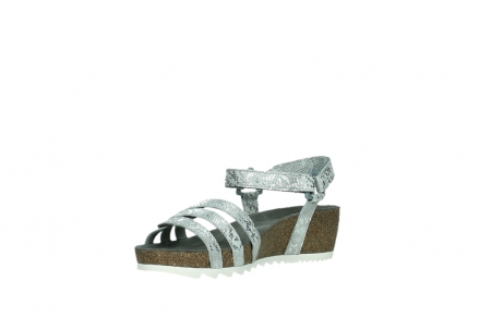 wolky sandalen 08235 pacific 99130 silver snake print leather_10