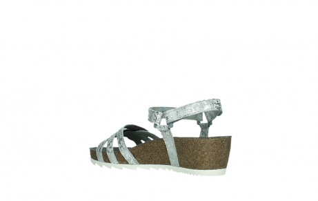 wolky sandalen 08235 pacific 99130 silver snake print leather_16