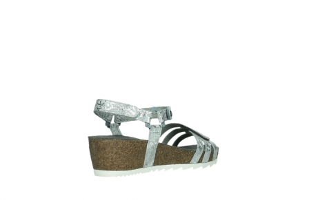 wolky sandalen 08235 pacific 99130 silver snake print leather_22