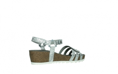 wolky sandalen 08235 pacific 99130 silver snake print leather_23