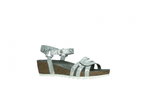 wolky sandalen 08235 pacific 99130 silver snake print leather_3