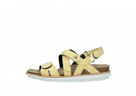wolky sandalen 08480 sunstone 94907 yellow green leather_1