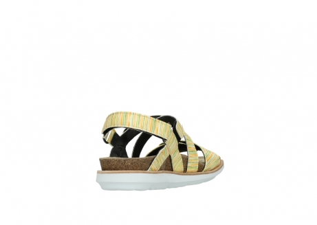 wolky sandalen 08480 sunstone 94907 yellow green leather_9
