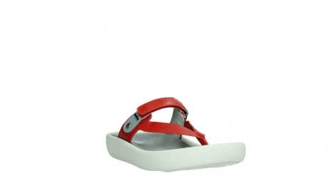 wolky slippers 00821 peace 87500 red pearl leather_5