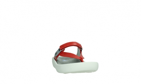 wolky slippers 00821 peace 87500 red pearl leather_6