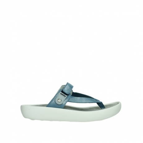 wolky slippers 00821 peace 87860 steel blue pearl leather
