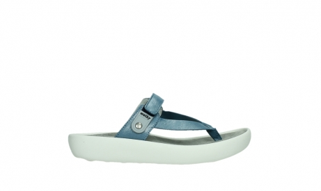 wolky slippers 00821 peace 87860 steel blue pearl leather_1