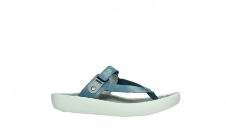 wolky slippers 00821 peace 87860 steel blue pearl leather_2