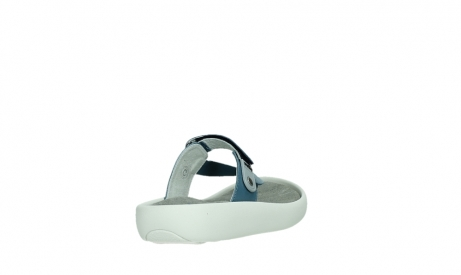 wolky slippers 00821 peace 87860 steel blue pearl leather_21