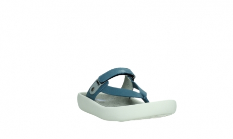wolky slippers 00821 peace 87860 steel blue pearl leather_5