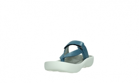 wolky slippers 00821 peace 87860 steel blue pearl leather_9