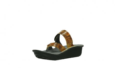 wolky slippers 00877 martinique 98920 ocher snake print leather_10