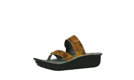 wolky slippers 00877 martinique 98920 ocher snake print leather_11