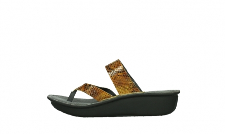 wolky slippers 00877 martinique 98920 ocher snake print leather_13