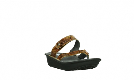 wolky slippers 00877 martinique 98920 ocher snake print leather_5