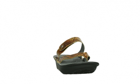 wolky slippers 00877 martinique 98920 ocher snake print leather_6