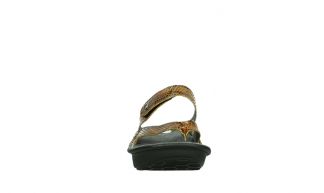 wolky slippers 00877 martinique 98920 ocher snake print leather_7