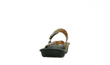 wolky slippers 00877 martinique 98920 ocher snake print leather_8