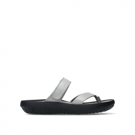 wolky slippers 00880 tahiti 87130 silver grey pearl leather